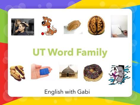 Lesson 21: UT Word Family- Phonics & Sight Words by English with Gabi אנגלית עם גבי