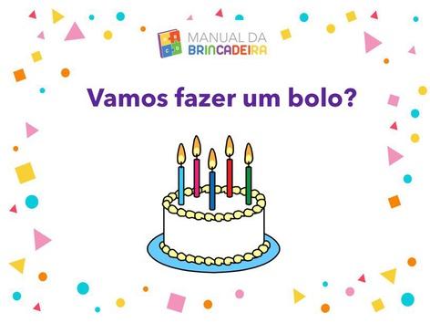 Bolo De Aniversário- Manual Da Brincadeira  by Manual da Brincadeira