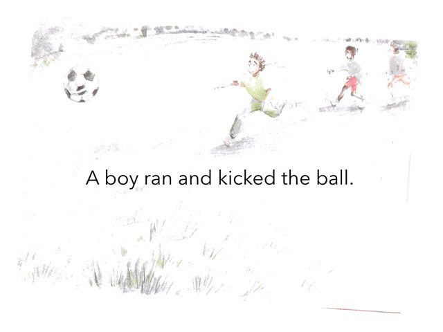 Football at the park by Teneille Dardis