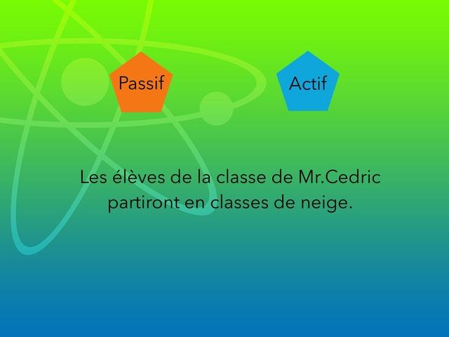 Actif Ou Passif By Matthieu Et Leon by Cédric Houbrechts