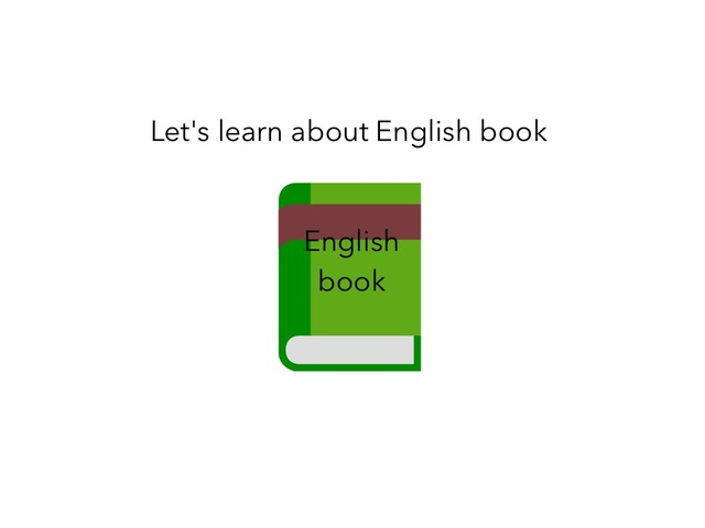 Let's Learn About English by Idah Rahman
