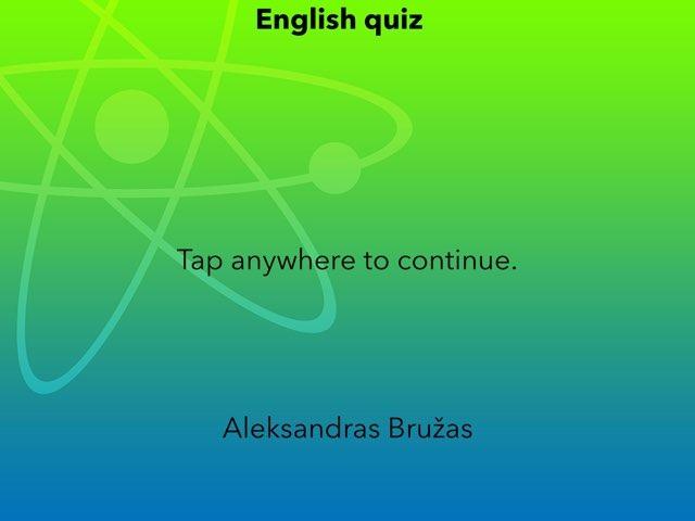 Quiz English by Penktokai VPG