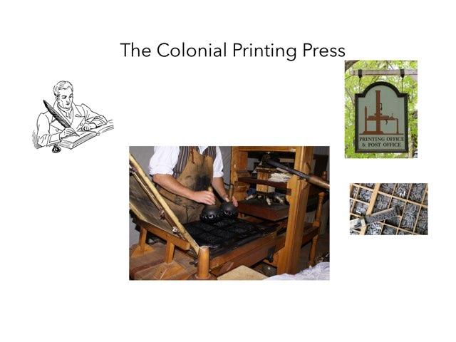 Colonial Print Shop by Erik Hove