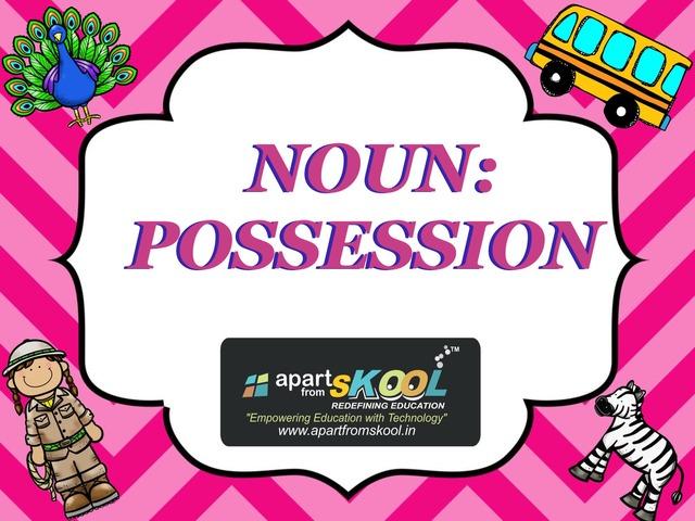 Noun Possession by TinyTap creator
