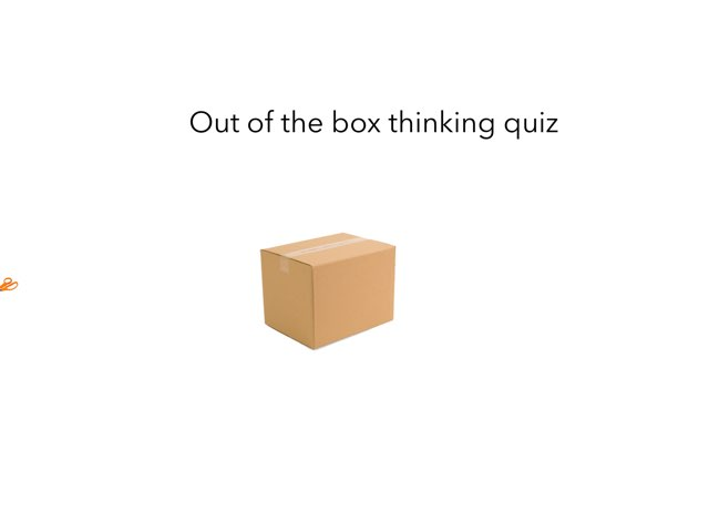 Out Of The Box Quiz by Seth Vizel