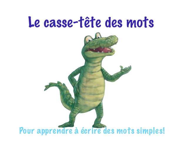 Ordonner les lettres de mots CVCV by Marie-Claude GR