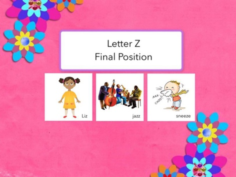 Letter Z : Final Position Of Words  by Carol Smith