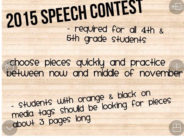 BCPS Speech Contest by Christine Snow