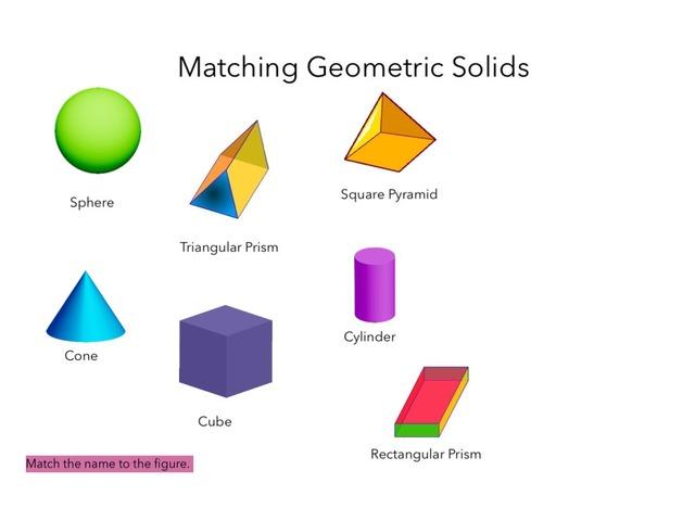 Matching Geometric Solids by Amber Coker