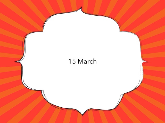 15 March by Resource Room