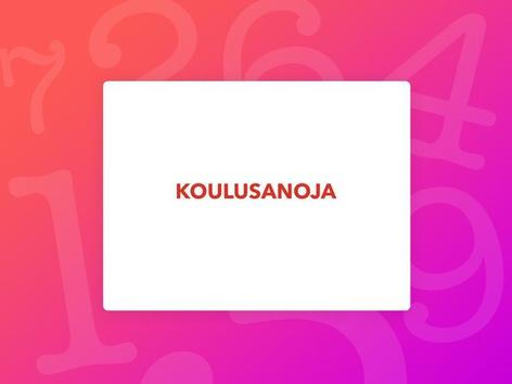 KOULUSANOJA by Eila Nissinen