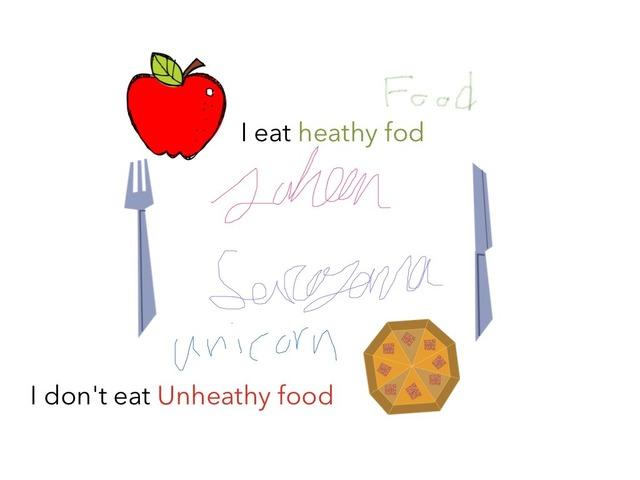 Eat Health Ford Don't Eat Junk Food  by Idah Rahman