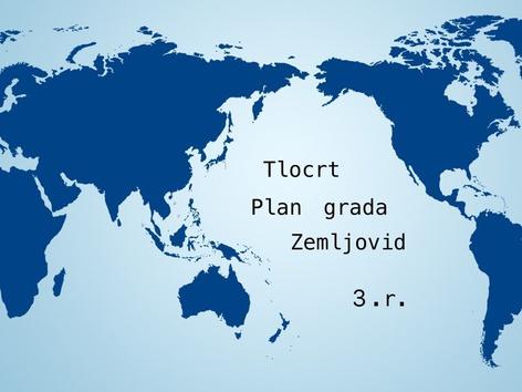 Tlocrt, Plan Grada, Zemljovid, 3.r. by natasa delac
