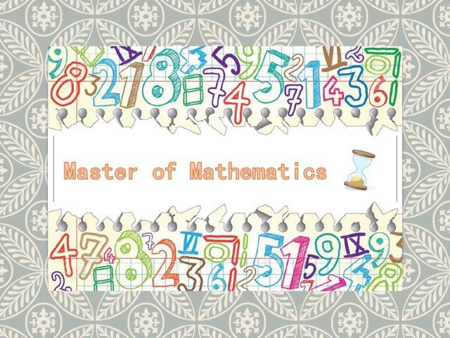 Master of Mathematics by Sam Kwan