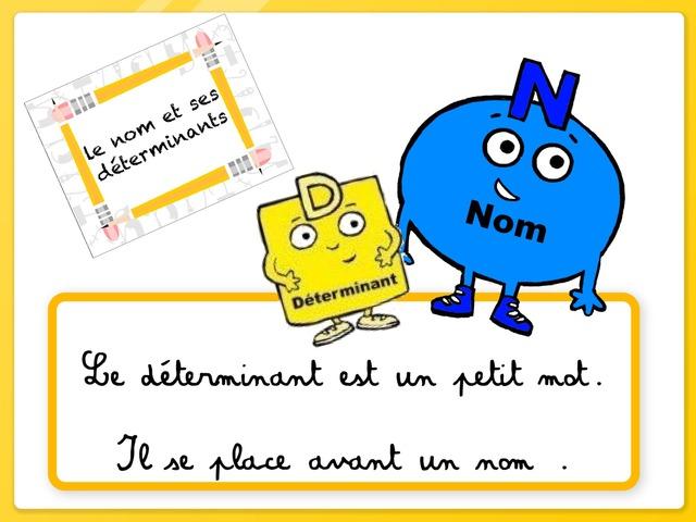 Le Nom Et Ses Déterminants  by Marie S