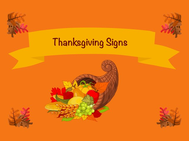 Thanksgiving Sign Lesson by Whitney Shannon