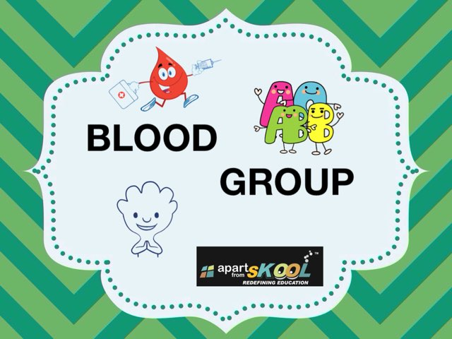 BLOOD GROUP by TinyTap creator