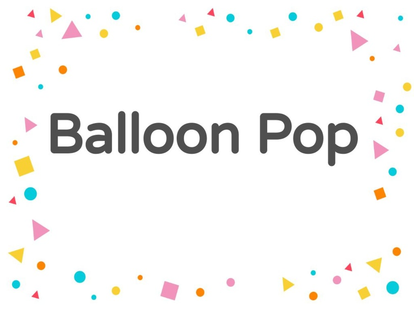 Balloon Pop by Allison Biglin