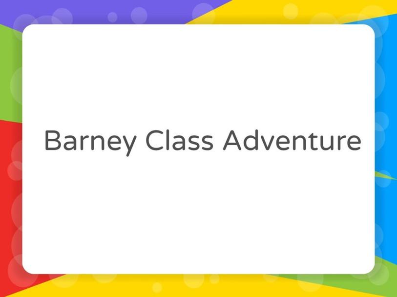 Barney Class Adventure by Vantage KG