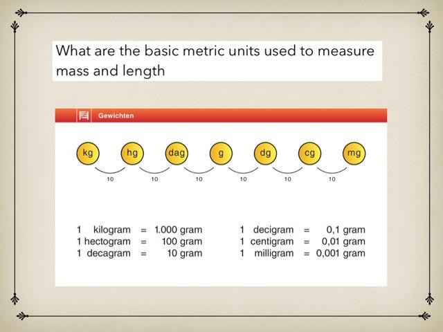 Basic metric Units by Francis Akomeah