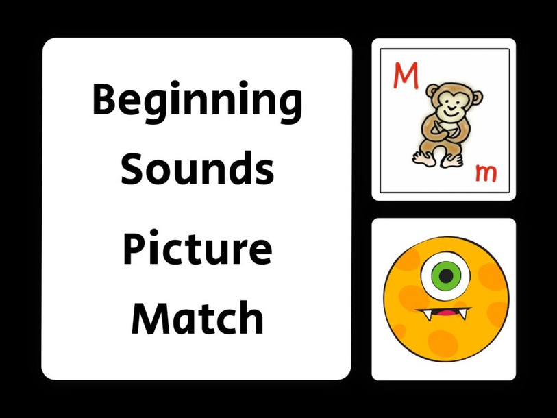 Beginning Sounds Picture Match - Letter M by evelyn navarro