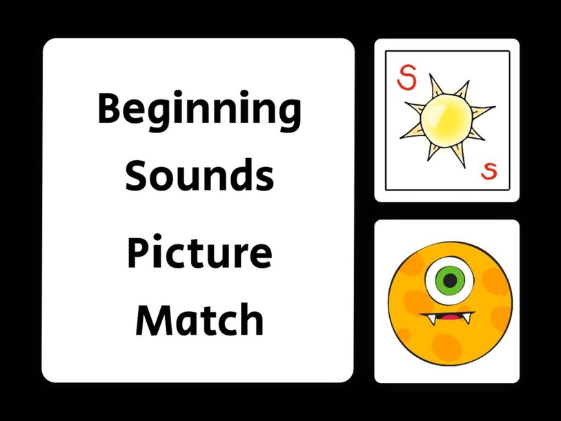 Beginning Sounds Picture Match - Letter S by evelyn navarro