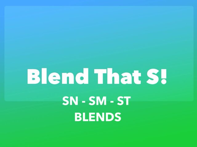 Blend That S! (SN, SM, ST Version) by Katherine Rackliff