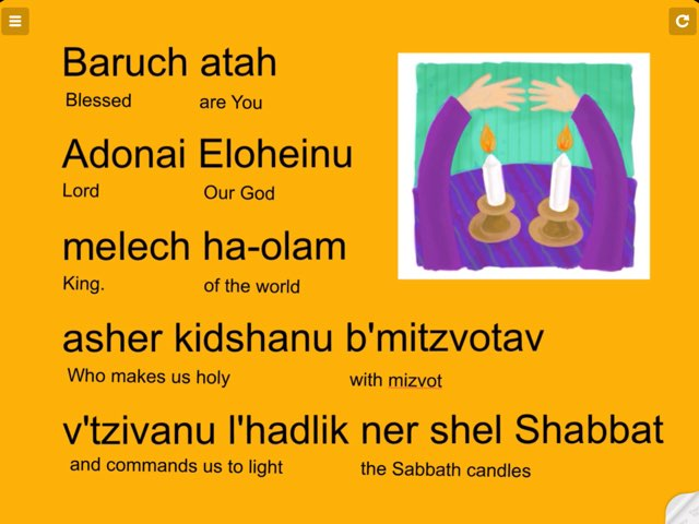 Blessing Over Shabbat Candles by Morah Jessica
