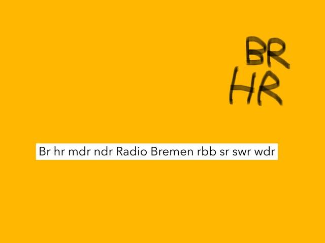 Br Hr Mdr Ndr Radio Bremen Rbb Sr Swr Wdr / Ndr by Adriano Scotti