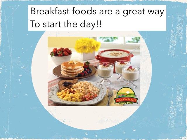 Breakfast Foods by Julie Gittoes-Henry