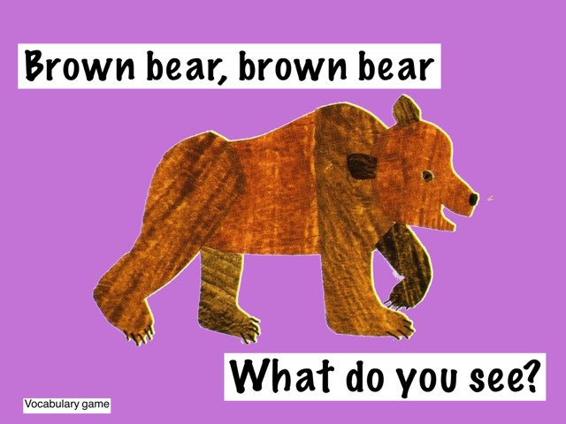 Brown Bear Vocabulary ID Game by Erica Lynn