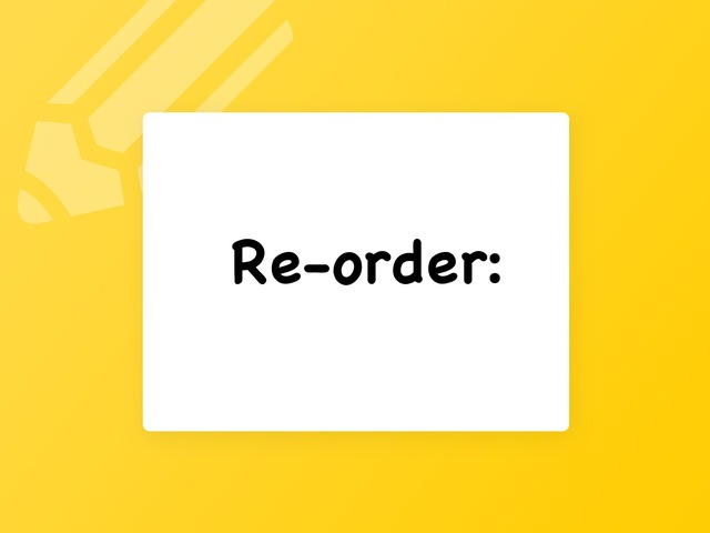 Reorder by fro7