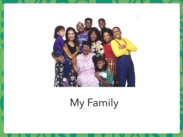 My Family by Rebecca Jarvis