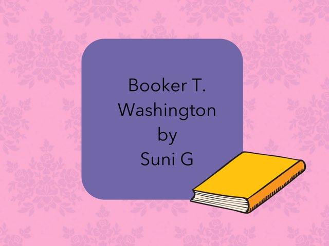Booker T  Washington  By Suni by Christine Snow