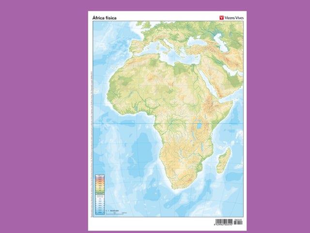 Mapa Africa Fisic by Alexia Lopez