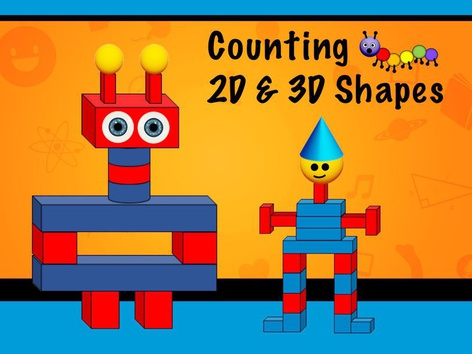 Counting Shapes - 2D & 3 D by Cici Lampe