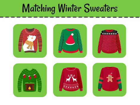 Matching Winter Sweaters by Cici Lampe