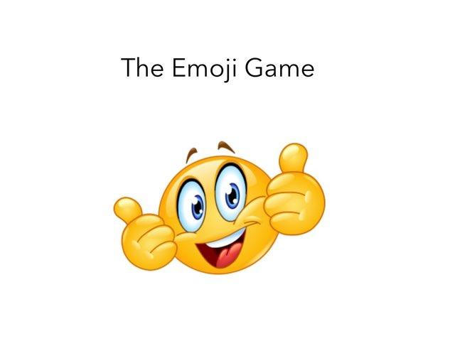 The Emoji Game by Nichole Carter