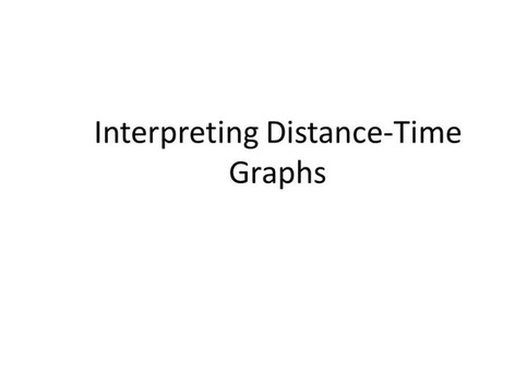 DP6 Interpreting Distance-Time Graphs by Michelle Lawrence