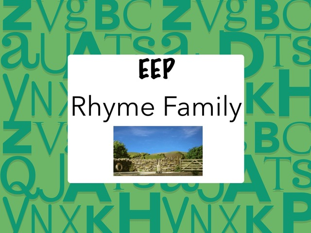 EEP Rhyme Family by Katherine Rackliff