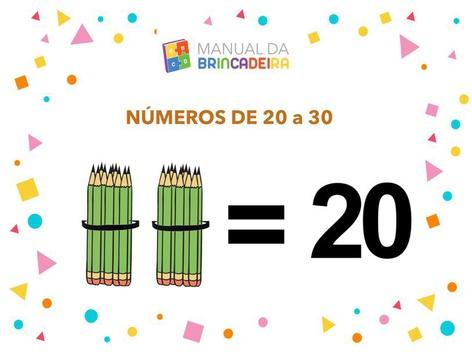 Números De 20 A 30 - Dezenas by Manual Da Brincadeira Miryam Pelosi