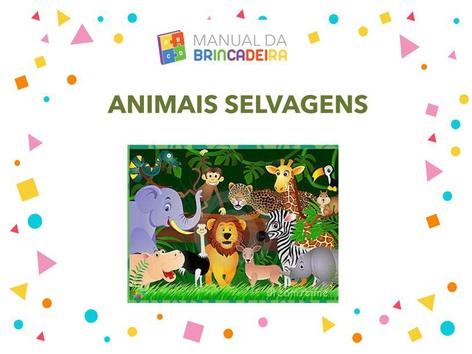 Animais Selvagens by Manual Da Brincadeira Miryam Pelosi