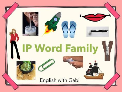 Lesson 10: IP Word Family- Phonics & Sight Words by English with Gabi אנגלית עם גבי