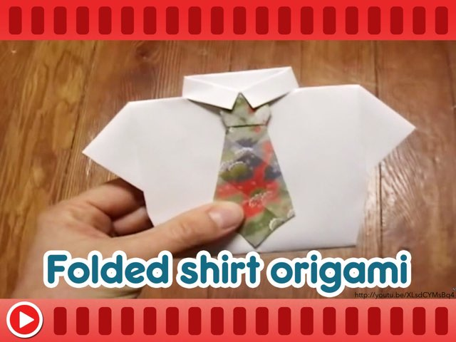 Folded Shirt Origami by Mr Lewis