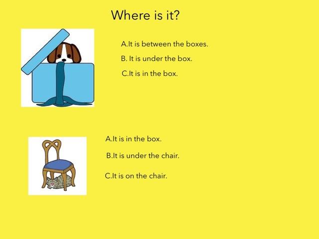 Preposition Game by Aysenur Ataseven