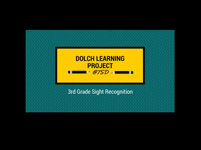 Word ID 2: Dolch 3rd Grade by TSD Library