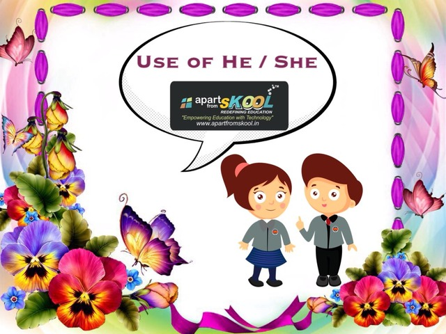 Use Of He And She  by TinyTap creator