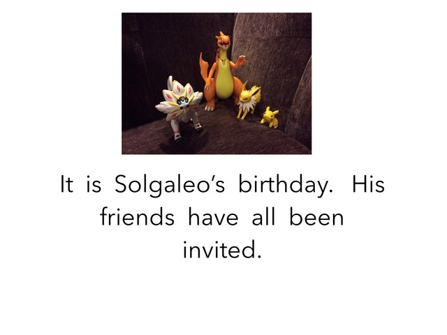 Solgaleo's  Birthday by Joy Wilson