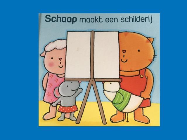 Schaap Maakt Een Schilderij by Lien Swinnen