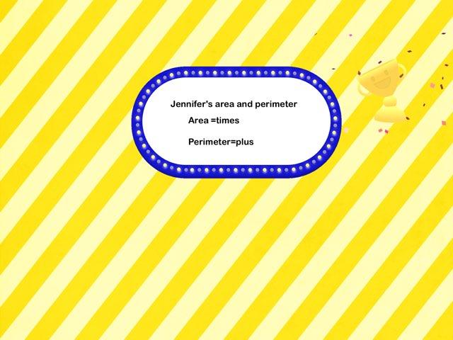 Area And Perimeter  by Jennifer Edoh